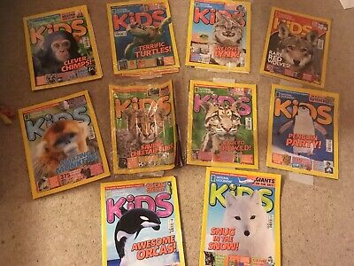 New Sealed Kids National Geographic Magazines Bundle Childrens 2016-2019 issues