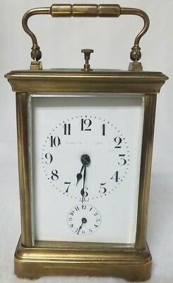 Antique Bigelow Kennard & Co. Brass Glass Carriage Clock , France