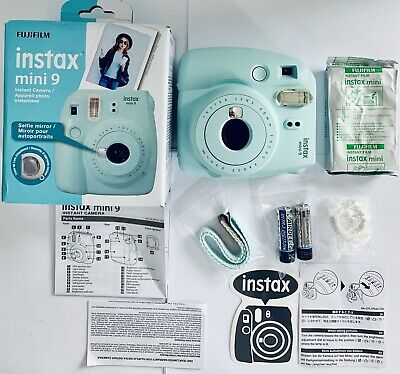 Fujifilm Instax Mini 9 Instant Film Camera-Ice Blue+Mini Film Pack *BUNDLE KIT*