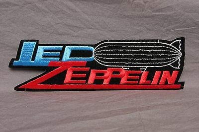 """Vintage Led Zeppelin 9"""" Logo Patch Hard Rock robert plant zoso Made In USA"""