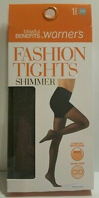 1e009596f7ce3 Women's Blissful Benefits By Warner's Fashion Tights Shimmer - Black/Gold  ...