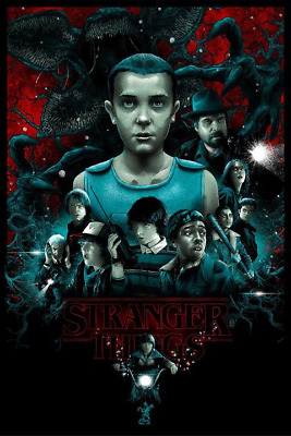 Stranger Things Limited Edition Screen Print by Vance Kelly Mondo Art MINT