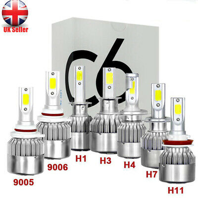2x H4 H7 H8/H9/H11 9005 9006 1500W LED Headlight Conversion Kit Lamp Bulbs 6500K
