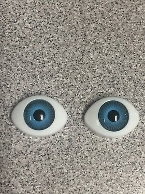 M01399 MOREZMORE 20 Holographic Doll Eyes 4mm BLUE Mini Dome Cabochon Lens A60