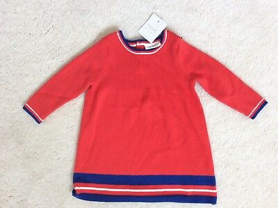 Brand New Baby Girls Red Knitted Dress Age 3-6 months from Next