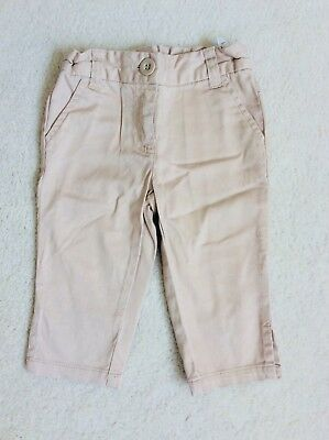 Girls Beige  3/4 length Trousers Age 3 years from Next