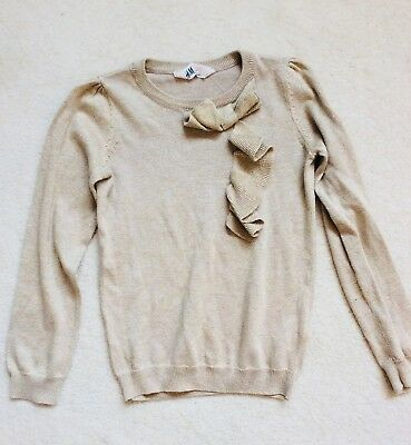 Girls Gold Sparkly Knitwear Age 6-8 years from H&M