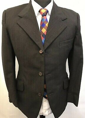 Ms3201 Vintage Hardy Amies Golden Talisam By Hepworth Men's Blazer 36 Uk