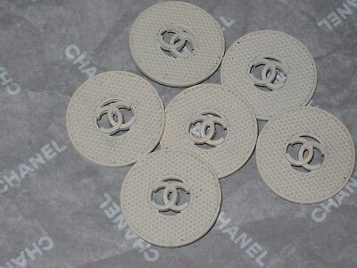 Chanel  6 Cc Logo   Creamy White Buttons  22  Mm/  1''  New Lot 6
