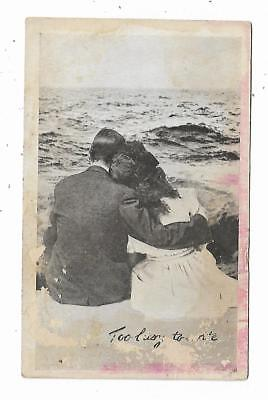 Old Quack Medicine Trade Card Rex Bitters Chicago Blood Purifier Couple Beach