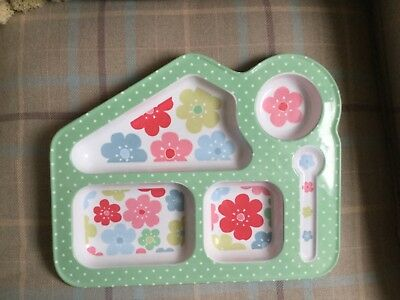 Cath Kidston Toddler Baby feeding plate tray Flowers
