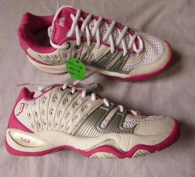 fda0898fb790f5 PRINCE T10 WOMENS white and pink tennis shoe size 7 excellent ...