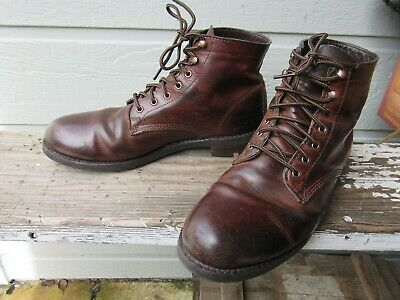 c28b49148b9 MENS WOLVERINE LEATHER Brown Durashock Work Boots Sz 12D - $28.00 ...