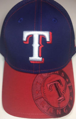 size 40 ee801 44ad2 Texas Rangers New Era MLB 39THIRTY Blue Red Embroidered Bill ...