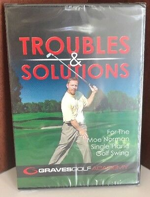 Golf Troubles & Solutions Dvd Brand New! Graves Gold Academy
