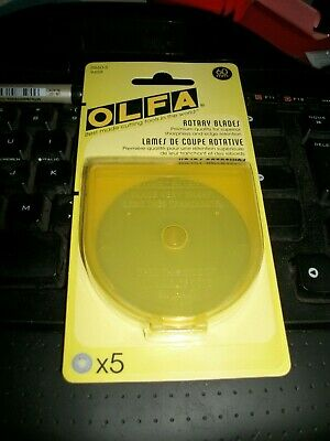 Genuine OLFA 60mm Rotary Cutter Blades 5 Pack New For Quilting / Free Post Cost