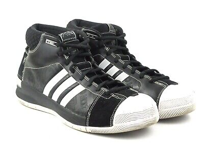promo code 0e1d5 51180 Adidas 2008 TS Pro Model Mid Top Basketball Sneakers Black   White Men s US  10.5