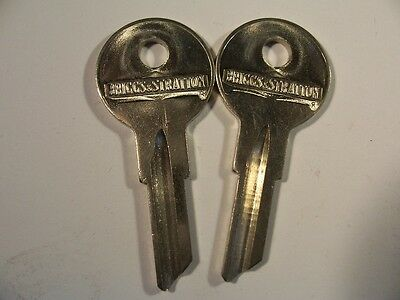 2  Briggs & Stratton  Nos B1 Gm  1929-1968 Indian Motor Cycle Key Blank