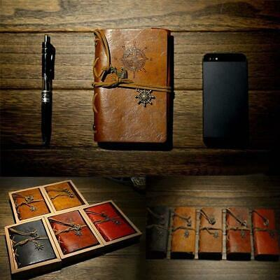 Vintage Classic Retro Leather Journal Travel Notepad Notebook Blank DiaryMemo JL
