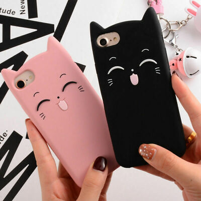 Cute Plus Cartoon X 8 7 For 6s iPhone Cover 6 Soft Ear 3D Silicone Case Back Cat