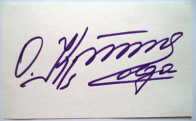 Olga Korbut 1972 Olympic Gymnastics Gold Medal Winner Original Ink Autograph