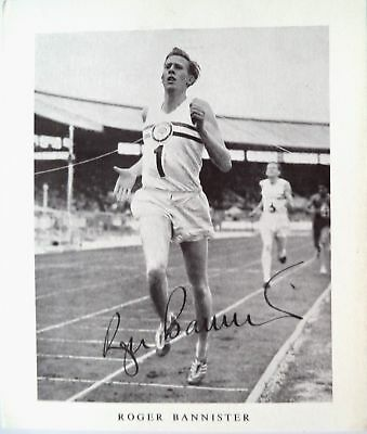 Bannister Roger 1954 First Sub 4 Minute Mile Record Holder Autographed Photocard