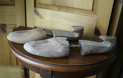 Vintage Bally Wood Wooden Shoe Trees Size M