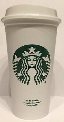 Starbucks Reusable Plastic Cup For Coffee, Tea ~ Microwaveable 16 oz Grande NEW