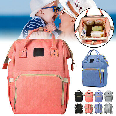 Mummy Bag MultiFunctional Waterproof Baby Maternity Backpack Diaper Nappy Large