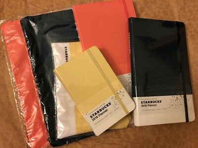Starbucks Korea Coral Navy Yellow Monthly Weekly Diary Journal Set Limited Ed