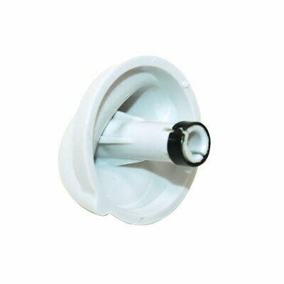 2 x White Cooker Oven Hob Control Knob Button Flame Burner Switch For Belling