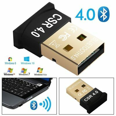 Wireless USB Bluetooth V4.0 CSR Dongle Adapter For Windows 7 8 10 PC Laptop Mac