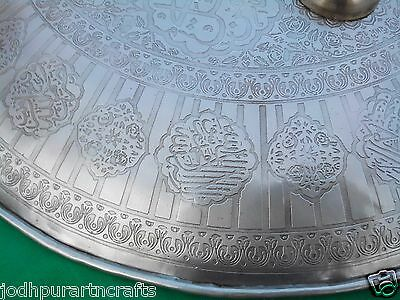 Old Indopersian Mughal Islamic Quran Script Calligraphy Dhal Shield India