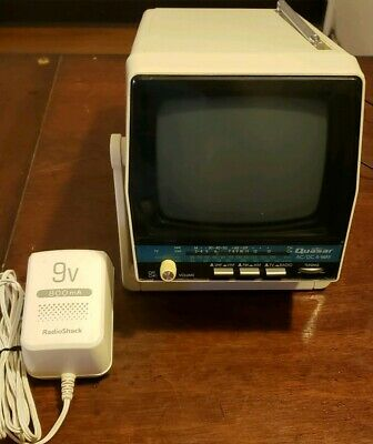 VERY NICE VTG Quasar Portable AM / FM Radio Television TV - XP1477H - Space Age