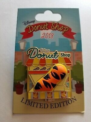 Disney Parks Donut Shop Tigger Hinged Pin 2018 LE 3000 NEW