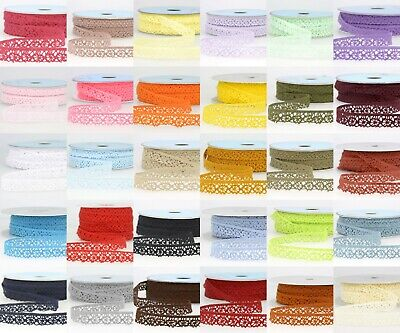 La Stephanoise 15mm Cotton Cluny Crochet Lace Ribbon - 36 Colours