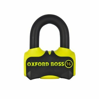 Oxford Disc Lock - Boss16 Lock (16 mm pin) Black/Yellow - LK316 SOLD SECURE GOLD