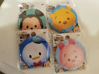 New Tsum Tsum Disney Mickey Mouse Donald Duck Piglet Winnie the Pooh Pin Buttons