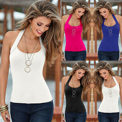 CA Womens Summer Strappy Vest Top Sleeveless Shirt Blouse Casual Beach Tank Tops