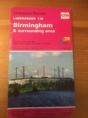 OS Ordnance Survey Landranger Map Sheet 139 Birmingham & surrounding area