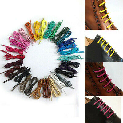 Round Waxed Shoelaces Dress Canvas Sneaker Boots Leather Shoe Laces String Cord