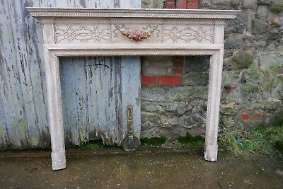 A Large Victorian Adams Style Painted Pine Fireplace.