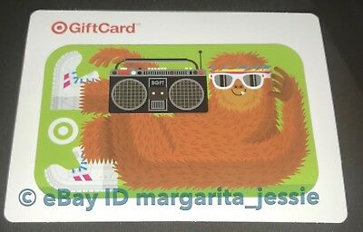Target Gift Card Yeti Fitness Workout W/ Sunglasses And Boom Box No Value New