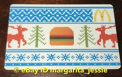 """Mcdonald'S Canada Gift Card """"Ugly Sweater"""" Burger/reindeer Holiday 2012 No Value"""
