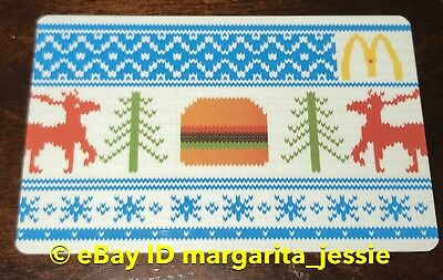 "Mcdonald's Canada Gift Card ""Ugly Sweater"" Burger/Reindeer Holiday 2012 No Value"
