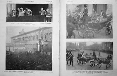 Original Old Vintage Print Belgi 1930 French An Soverigns In Rome 20th Century
