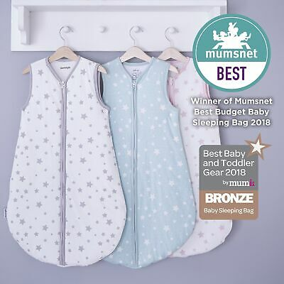 Silentnight Safe Nights Baby Sleep Bag, 0-6 Months, Pink, Grey or Duck Egg Star