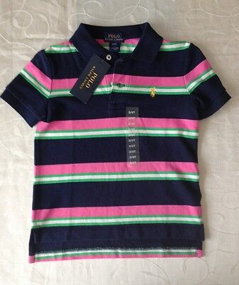 Ralph Lauren Baby Boy's Striped 100% Cotton  Polo Shirt (12 Months)