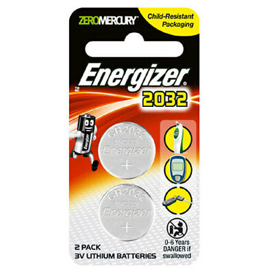 Energizer CR2032 Button Battery Twin Pack - 3v Lithium Batteries - FREE POST