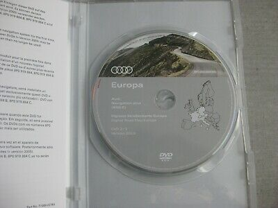 Audi Navigation plus RNS-E DVD Version 2019 Deutschland Europa 2018 Original NEU